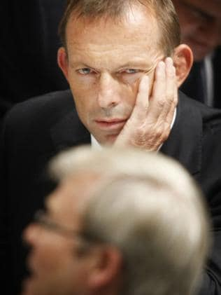 Tony Abbott and Kevin Rudd in Parliament.