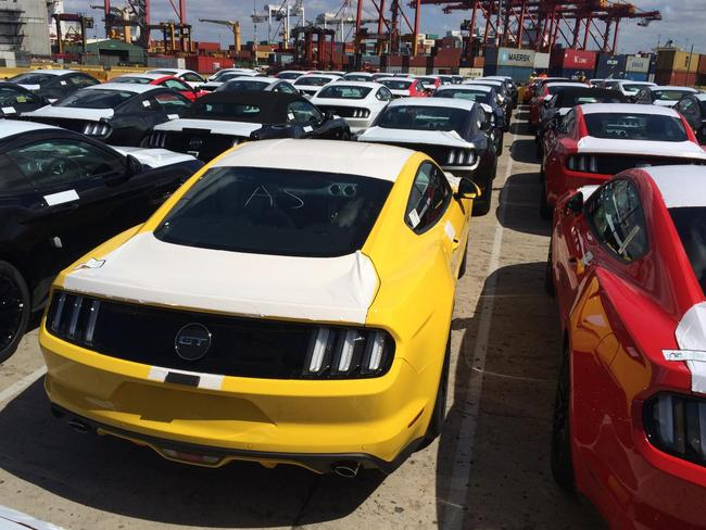 Looking good ... The 2015 model ford Mustang is one step closer to their new owners. Picture: Supplied.