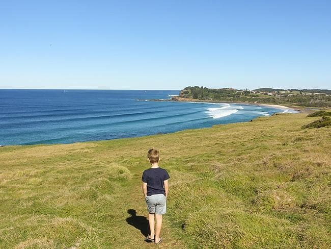 Checking out the sights at Lennox Head, NSW. Picture: Natalie Tuck/Big 4