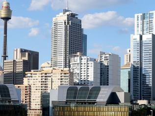 Supplied Editorial The exhibition centre demolishion site with the Sydney CBD skyline in the background. 18th April