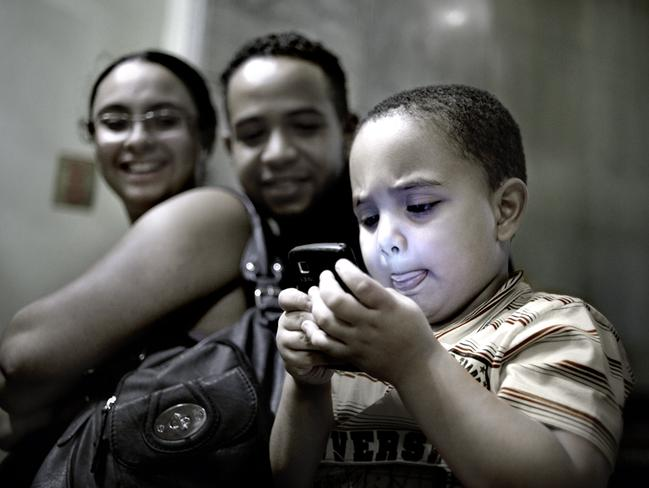 Families relaxed, and spent time together in the lobby. Picture: Felipe Paiva/Newsmodo