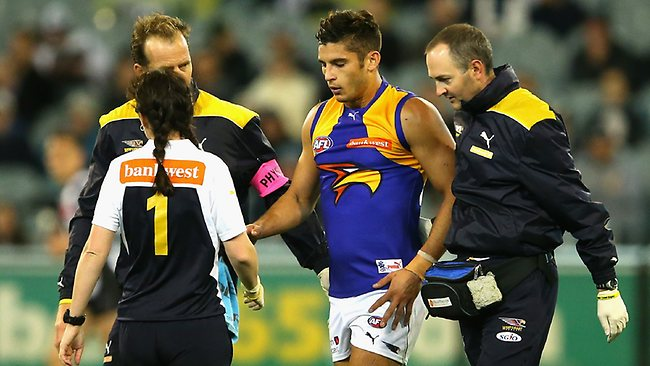 Target ... Sharrod Wellingham was booed by Magpie fans.