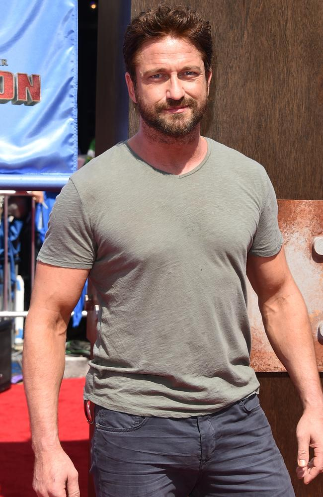 Gerard Butler kept it casual at the LA premiere of  <i>How To Train Your Dragon 2</i>.