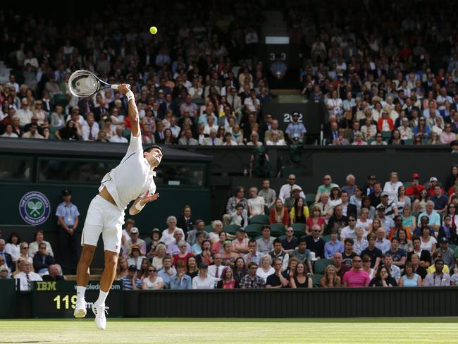 Novak Djokovic takes an age to serve.