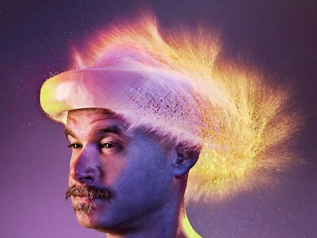 'Water wig' photos wow: byo blow dryer effect captured photographer Tim Tadder.