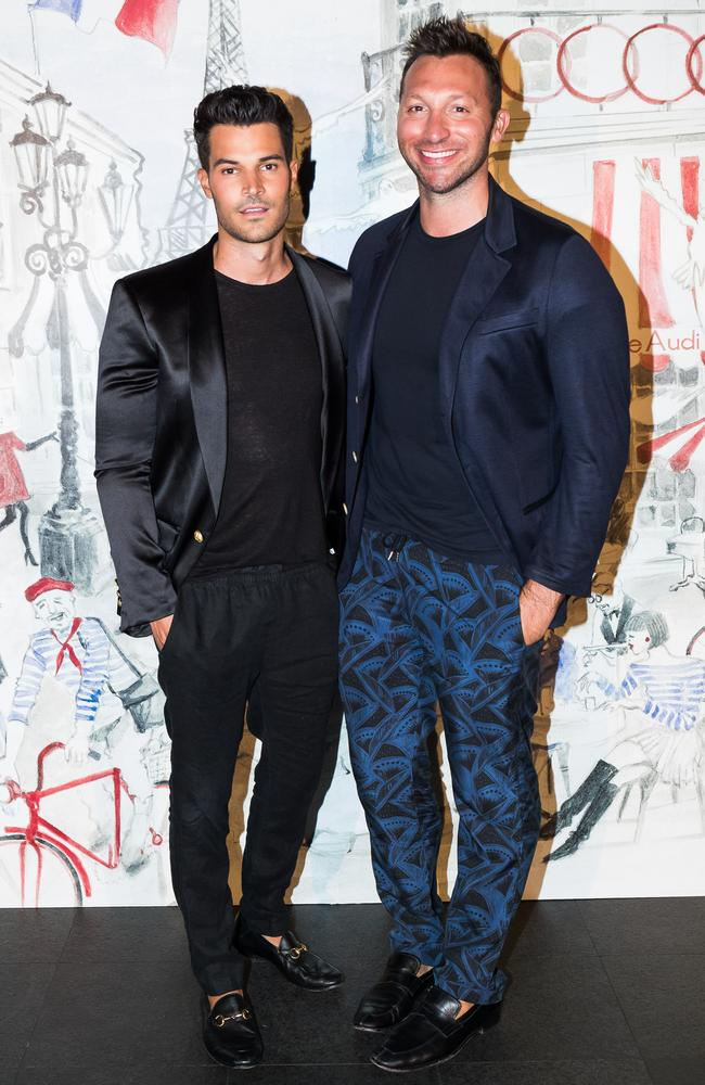 Ian Thorpe (right) with his boyfriend Ryan Channing.