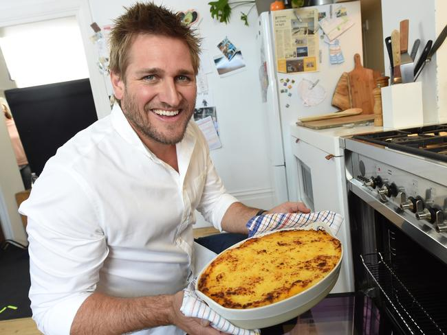 LA Based chef Curtis Stone is happy to eat most things, but he's wary on flights. Picture: Tony Gough