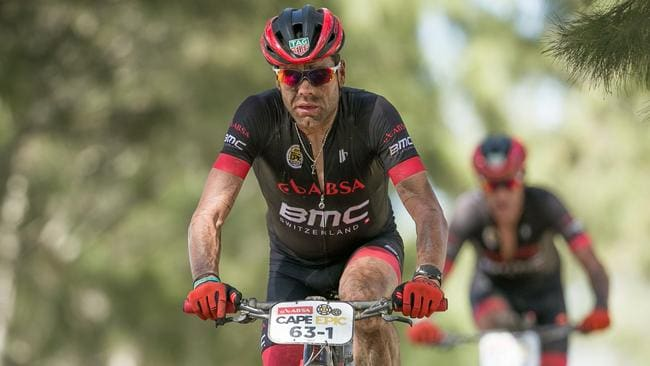 Cadel Evans during stage one of the 2017 Absa Cape Epic Mountain Bike race. Photo by Mark Sampson/Cape Epic/SPORTZPICS