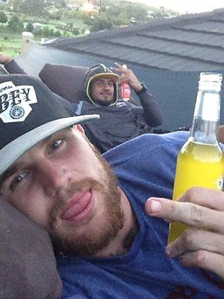 Josh Dugan (front) and Blake Ferguson in a picture Dugan posted on Twitter.