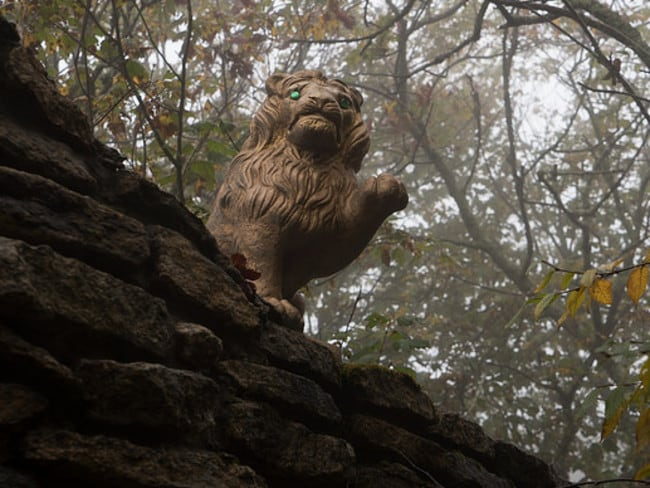 A statue of the cowardly lion says hello. Picture: Johnny Joo Photography
