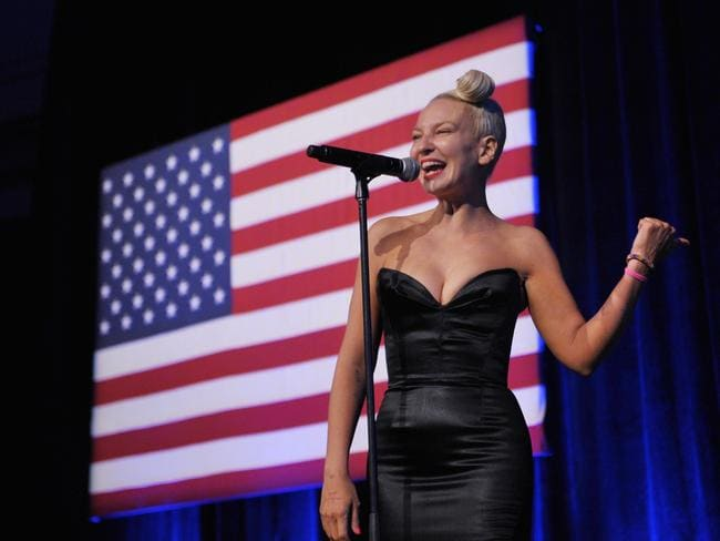Drug use ... Australian singer Sia performs at the Democratic National Committee LGBT Gala in New York this week. Picture: AFP