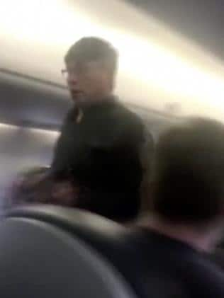 The man, a doctor, was told he had to give up his paid seat as the flight was overbooked. Picture: Audra D. Bridges via AP