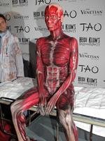 Having her guests jump out of the skin is generally the name of the game with the annual fright fest. In 2011 Heidi Klum literally arrived without her skin — with the help of a little body paint. Picture: Getty