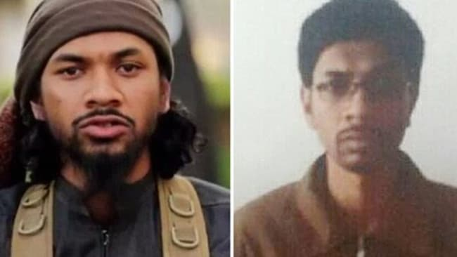 Australian Isis recruiter Neil Prakash before and after his arrest by Turkish border guards. Picture: The Guardian