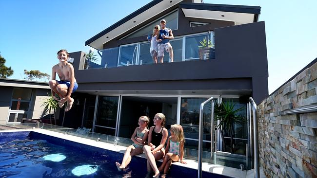 Rick and Sophie Smith's Freshwater swimming pool is situated on top of their front garage.