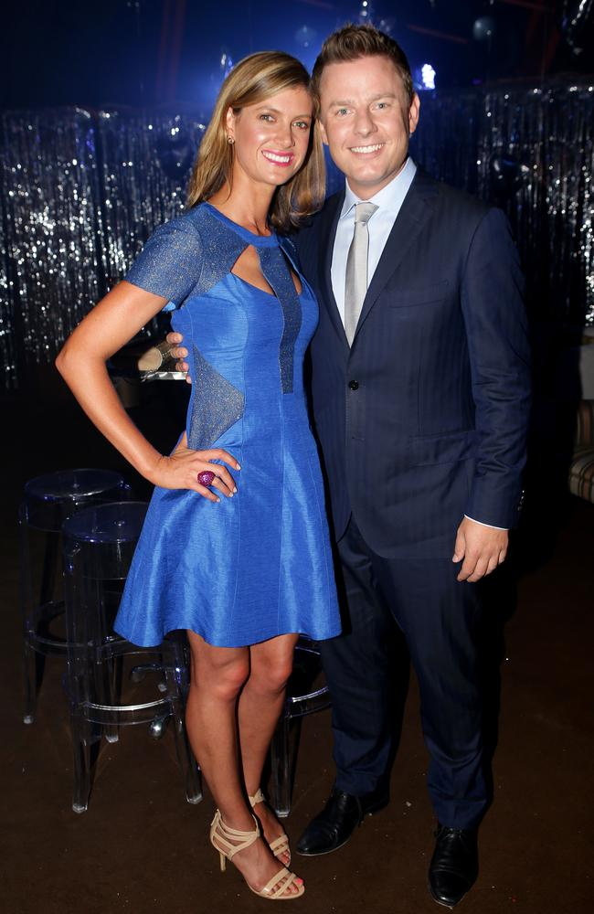 Glamour couple ... Jodie Speers and Ben Fordham attend a Fund Raiser at the Opera House earlier this year.
