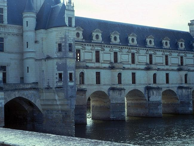 This is the chateau Chenonceaux, in the Loire Valley. It's quite nice.