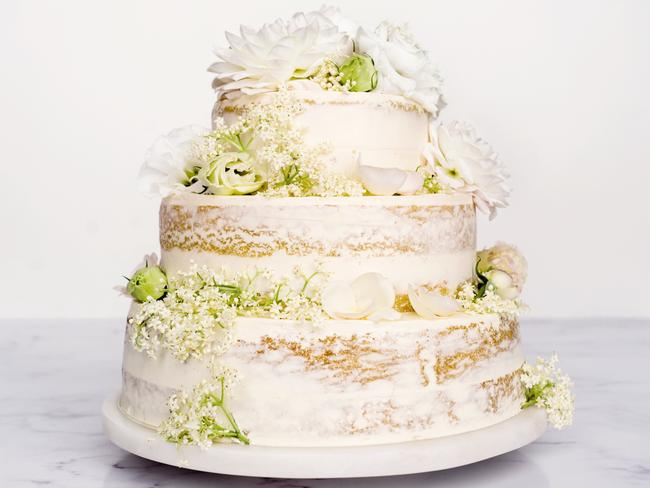 The Royal Wedding cake will be infused with lemon and elderflower. Picture: Delicious.com.au