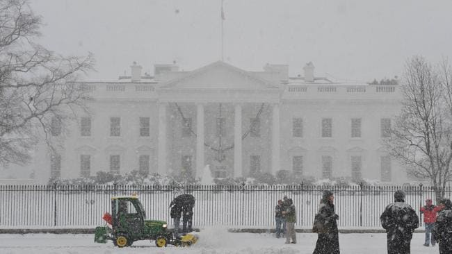 The White House looking extra white.