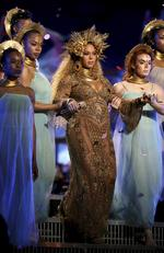 Beyonce performs onstage during The 59th GRAMMY Awards at STAPLES Center on February 12, 2017 in Los Angeles, California. Picture: AP
