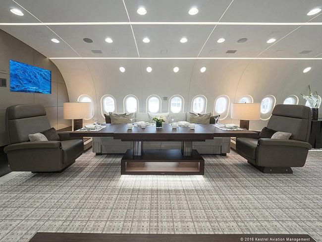 A glimpse of the luxury furniture. Picture: Kestrel Aviation Management