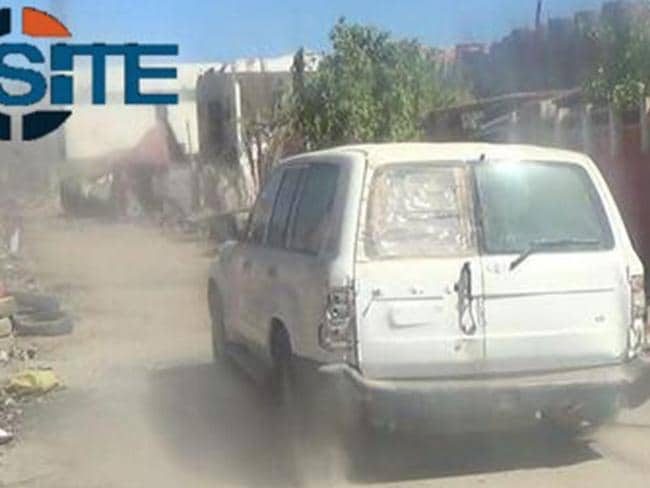 The propaganda video claims this is the car in which the Melbourne jihadist tried to blow up Iraqi troops.