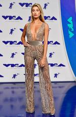 Hailey Baldwin attends the 2017 MTV Video Music Awards at The Forum on August 27, 2017 in Inglewood, California. Picture: Getty