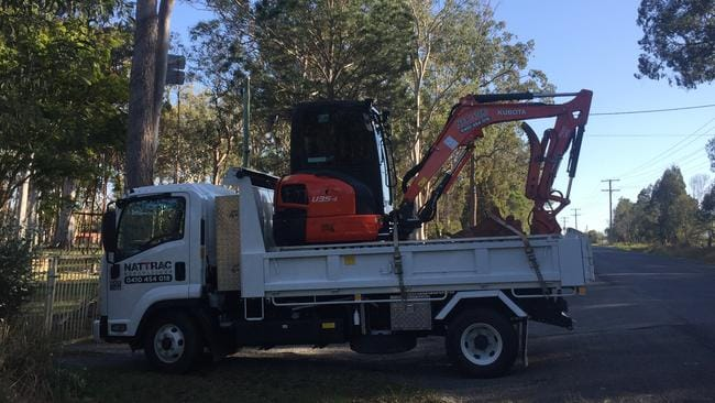An excavator arrives at the property this morning. Pic: Clare Armstrong