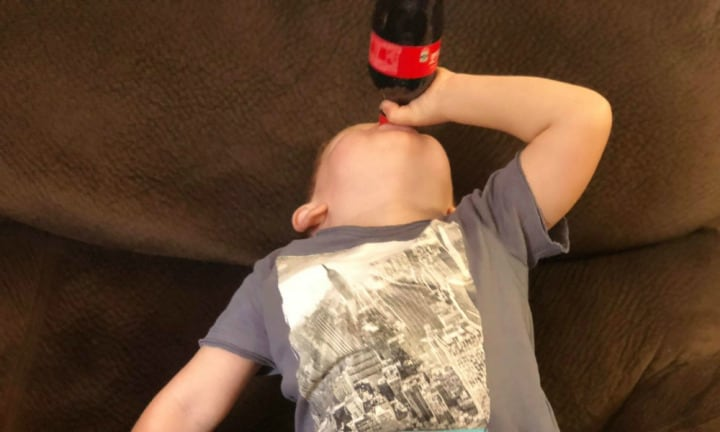 'A doctor prescribed my toddler son 300ml of Coke a day'
