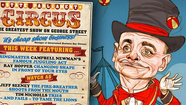 Campbell Newman Circus graphic