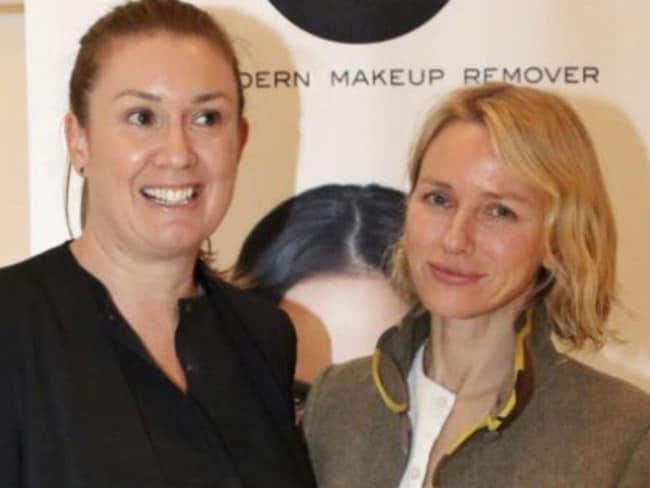 Rebecca Williamson with Naomi Watts, who also uses the Face Halo.