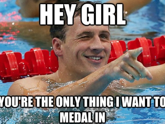 Ryan Lochte meme inspired by his 'frat-boy' comments on reality television.