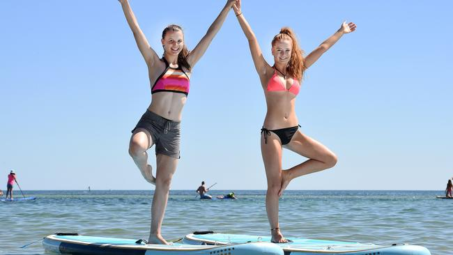 Yoga on Stand Up Paddle Boards Weather Picture