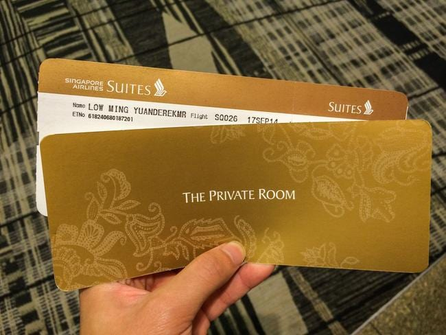 A ticket to luxury. Picture: Derek Low