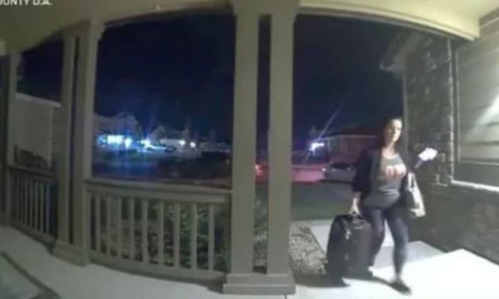 Video of Chris Watts' pregnant wife walking in door as he waits to kill her