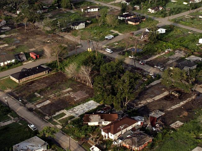 The city's Lower Ninth Ward, pictured here one year after Katrina, is still struggling to recover.