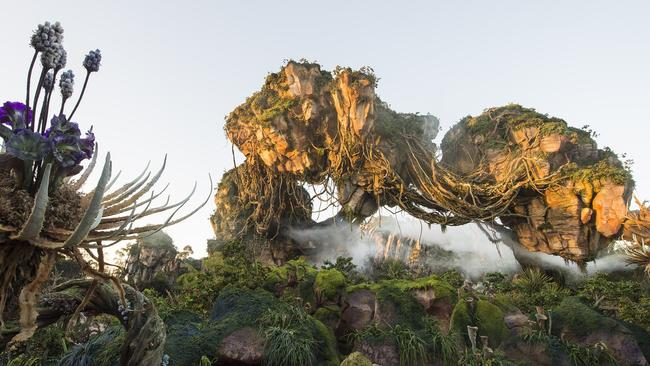 The 5ha <i>Avatar</i> attraction has a huge mountain that appears to float in the air.