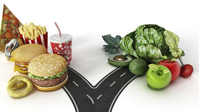 We can choose fast food or healthy food.