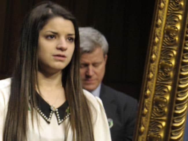 Carlee Soto testified before the Senate Judiciary Committee on the Assault Weapons Ban of 2013. Picture: Susan Walsh/AP