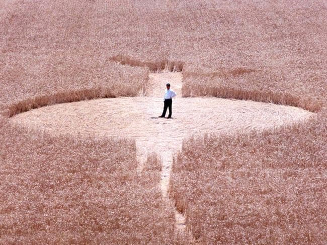 This crop circle was spotted in Northfield, South Australia, in 1994.