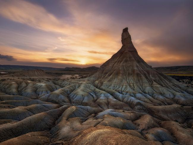 The eerie, semidesert plains of Bardenas Reales in the Navarra. Picture: iStock