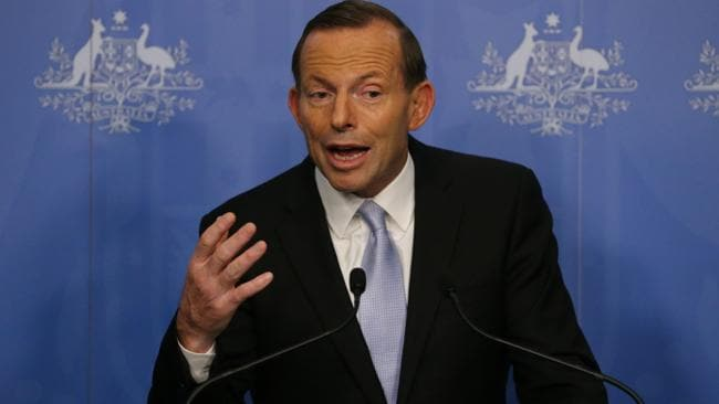 PM-elect Tony Abbott announces his ministry at Parliament House in Canberra today.