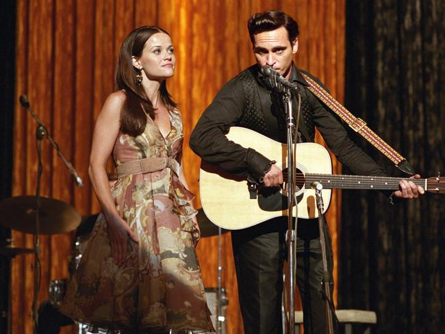 Reese Witherspoon and Joaquin Phoenix in Walk The Line.