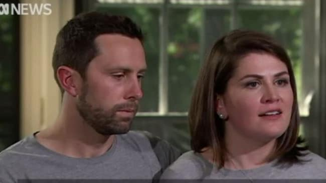 Sara Chivers and her husband Leigh have shared their heartbreaking story with 7:30. Picture: 7:30/Screengrab.