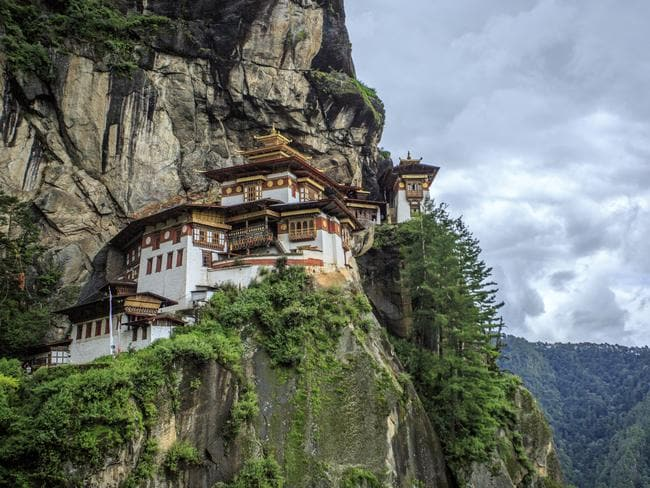 Bhutan is famous for the spectacular Tiger's Nest Monastery.