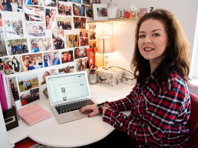 All in a day's work: Laura's eBay store funds her studies and lifestyle. Picture: Caters News