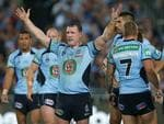 Come on then, says Paul Gallen. Picture Gregg Porteous