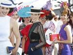 2015 Melbourne Cup Day at Flemington Racecourse. Myer Fashion in the Field. The ladies line up for their chance to impress the judges. Picture: David Caird.
