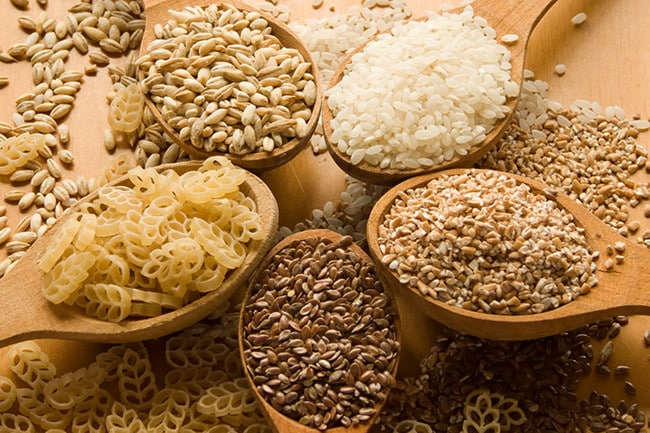 What are some common whole grain foods?