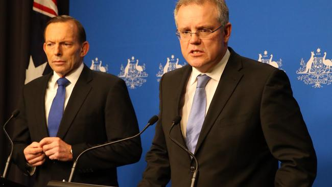 Prime Minister Tony Abbott and Immigration Minister Scott Morrison.